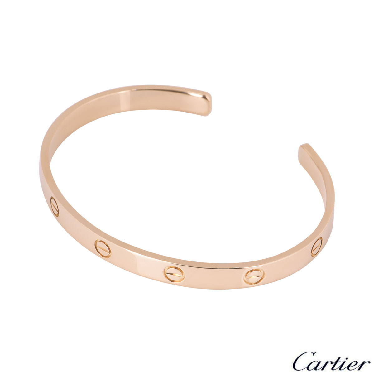 Cartier Rose Gold Plain Cuff Love Bracelet Size 20 B6032620